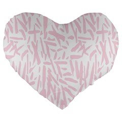 Graffiti Paint Pink Large 19  Premium Heart Shape Cushions