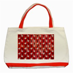 Goose Swan Hook Red Classic Tote Bag (red)