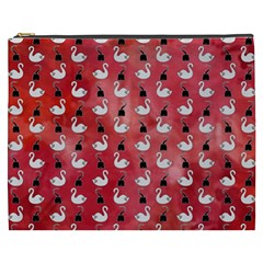 Goose Swan Hook Red Cosmetic Bag (xxxl)