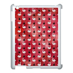 Goose Swan Hook Red Apple Ipad 3/4 Case (white)