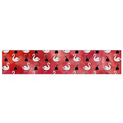Goose Swan Hook Red Flano Scarf (small)