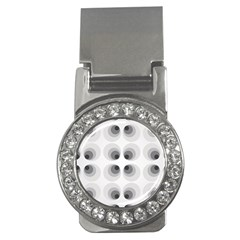 Hole Black Eye Grey Circle Money Clips (cz)  by Alisyart