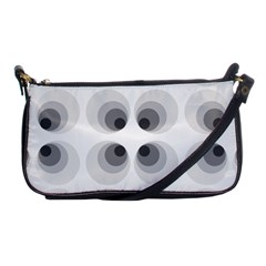 Hole Black Eye Grey Circle Shoulder Clutch Bags