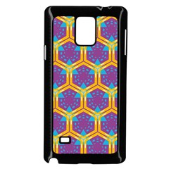Yellow Honeycombs Pattern                                                         			samsung Galaxy Note 4 Case (black) by LalyLauraFLM