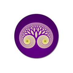 Glynnset Royal Purple Magnet 3  (round)