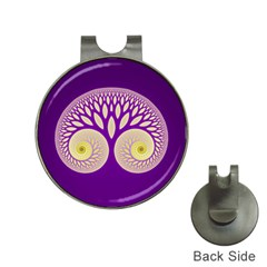 Glynnset Royal Purple Hat Clips With Golf Markers
