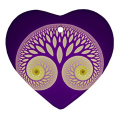 Glynnset Royal Purple Heart Ornament (two Sides) by Alisyart