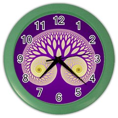 Glynnset Royal Purple Color Wall Clocks