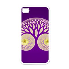 Glynnset Royal Purple Apple Iphone 4 Case (white)