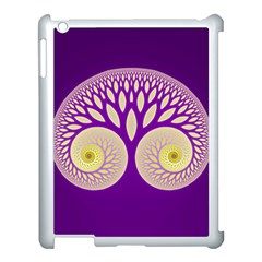 Glynnset Royal Purple Apple Ipad 3/4 Case (white)