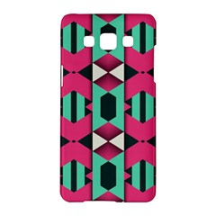 Green Pink Shapes                                			samsung Galaxy A5 Hardshell Case by LalyLauraFLM