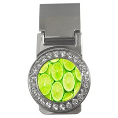 Green Lemon Slices Fruite Money Clips (cz)