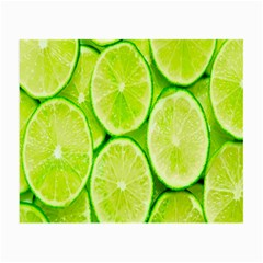 Green Lemon Slices Fruite Small Glasses Cloth