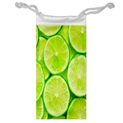 Green Lemon Slices Fruite Jewelry Bag