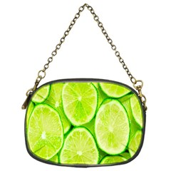 Green Lemon Slices Fruite Chain Purses (one Side)  by Alisyart
