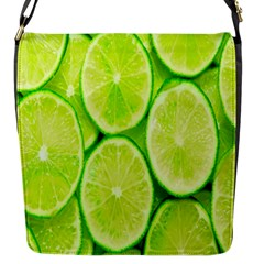 Green Lemon Slices Fruite Flap Messenger Bag (s)
