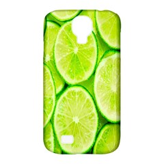 Green Lemon Slices Fruite Samsung Galaxy S4 Classic Hardshell Case (pc+silicone)