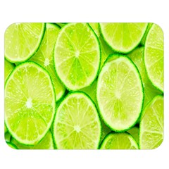 Green Lemon Slices Fruite Double Sided Flano Blanket (medium)  by Alisyart