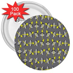Illusory Motion Of Each Grain Arrow Grey 3  Buttons (100 Pack)