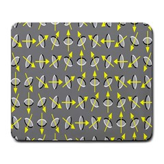 Illusory Motion Of Each Grain Arrow Grey Large Mousepads