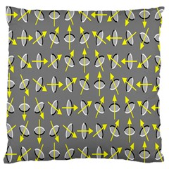 Illusory Motion Of Each Grain Arrow Grey Large Cushion Case (two Sides)