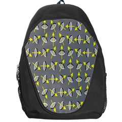 Illusory Motion Of Each Grain Arrow Grey Backpack Bag