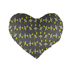 Illusory Motion Of Each Grain Arrow Grey Standard 16  Premium Heart Shape Cushions