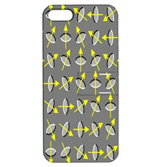 Illusory Motion Of Each Grain Arrow Grey Apple Iphone 5 Hardshell Case With Stand