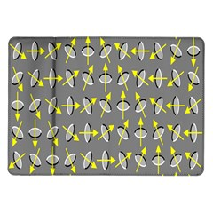 Illusory Motion Of Each Grain Arrow Grey Samsung Galaxy Tab 10 1  P7500 Flip Case