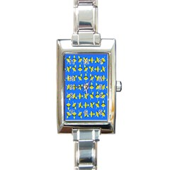 Illusory Motion Of Each Grain Arrow Blue Rectangle Italian Charm Watch