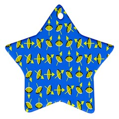 Illusory Motion Of Each Grain Arrow Blue Ornament (star)