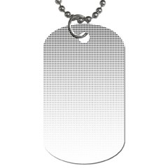 Halftone Simple Dalmatians Black Circle Dog Tag (two Sides)