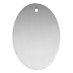 Halftone Simple Dalmatians Black Circle Oval Ornament (two Sides)