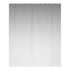 Halftone Simple Dalmatians Black Circle Shower Curtain 60  X 72  (medium)  by Alisyart