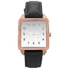 Halftone Simple Dalmatians Black Circle Rose Gold Leather Watch
