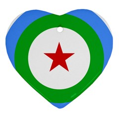 Roundel Of Djibouti Air Force  Heart Ornament (two Sides) by abbeyz71