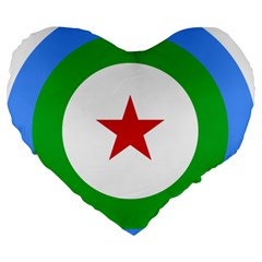 Roundel Of Djibouti Air Force  Large 19  Premium Flano Heart Shape Cushions by abbeyz71