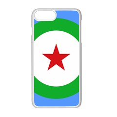 Roundel Of Djibouti Air Force  Apple Iphone 7 Plus White Seamless Case by abbeyz71