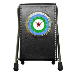 Roundel Of Djibouti Air Force Pen Holder Desk Clocks by abbeyz71