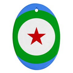 Roundel Of Djibouti Air Force Oval Ornament (two Sides) by abbeyz71