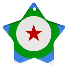 Roundel Of Djibouti Air Force Star Ornament (two Sides) by abbeyz71