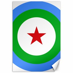 Roundel Of Djibouti Air Force Canvas 12  X 18   by abbeyz71
