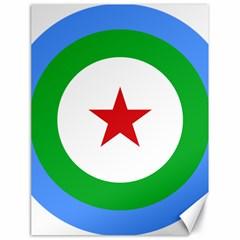 Roundel Of Djibouti Air Force Canvas 18  X 24   by abbeyz71