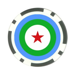 Roundel Of Djibouti Air Force Poker Chip Card Guard (10 Pack) by abbeyz71