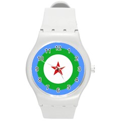 Roundel Of Djibouti Air Force Round Plastic Sport Watch (m) by abbeyz71