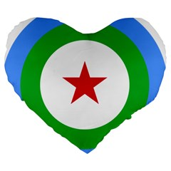 Roundel Of Djibouti Air Force Large 19  Premium Heart Shape Cushions by abbeyz71