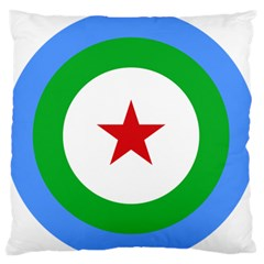 Roundel Of Djibouti Air Force Large Flano Cushion Case (one Side) by abbeyz71