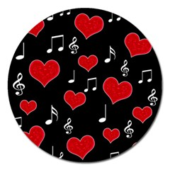 Love Song Magnet 5  (round) by Valentinaart