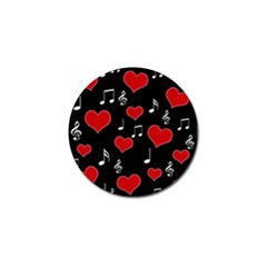 Love Song Golf Ball Marker (4 Pack) by Valentinaart