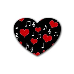 Love Song Rubber Coaster (heart)  by Valentinaart